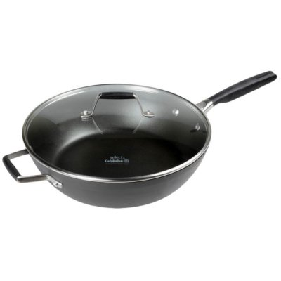 Select by Calphalon™ Hard-Anodized Nonstick 12-Inch Jumbo Fryer with Cover
