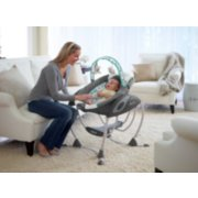 soothing system glider with removable bassinet image number 3