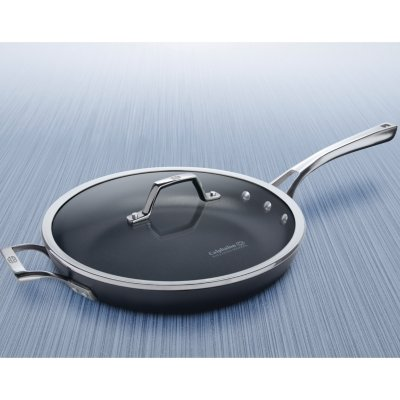 Calphalon Williams-Sonoma Elite Hard-Anodized Nonstick 12-Inch Fry Pan with Cover