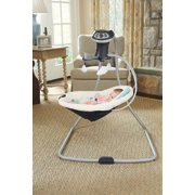 simple sway swing in living room with baby inside side view image number 4