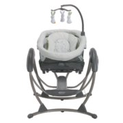 soothing system glider with removable bassinet image number 1