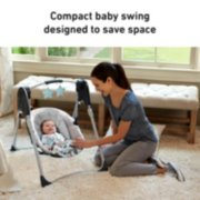 compact baby swing designed to save space image number 1