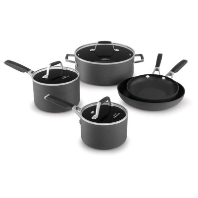 Select by Calphalon™ Hard-Anodized Nonstick Pots and Pans, 8-Piece Cookware Set