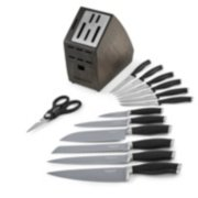 Contemporary nonstick cutlery set with block image number 1