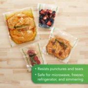 vacuum seal bags resist punctures and tears, are safe for microwave, freezer, fridge, and simmering image number 4