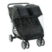 baby jogger city mini double stroller with weather shield image number 0