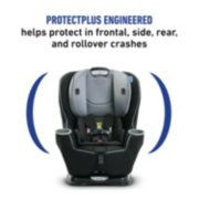 convertible car seat with protect plus engineered helps protect in frontal side rear and rollover crashes image number 2
