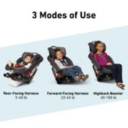 3 modes of use rear facing forward facing and high back booster image number 2