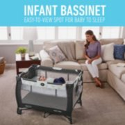infant bassinet easy to view for when baby is asleep image number 3