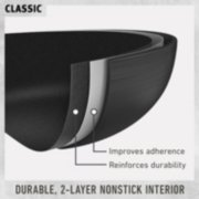 classic cookware with durable 2 layer nonstick interior improves adherence and reinforces durability image number 1
