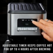 adjustable timer keeps coffee hot up to 4 hours after brewing image number 2