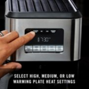 select high medium or low warming plate heat settings image number 3
