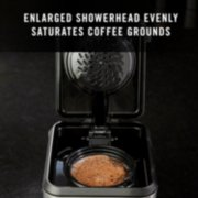 enlarged showerhead evenly saturates coffee grounds image number 5