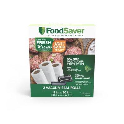 "FoodSaver® 8"" x 20' Vacuum-Seal Roll, 3 Pack"