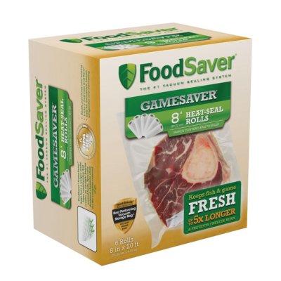 """FoodSaver® GameSaver®  8"""" x 20' Long Vacuum-Seal Rolls, 6 Pack"""
