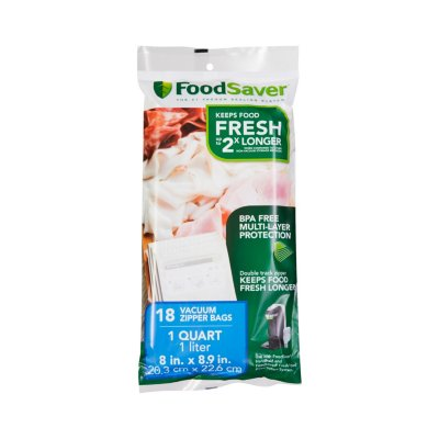 FoodSaver® Vacuum Zipper Quart Bags, 18 Count