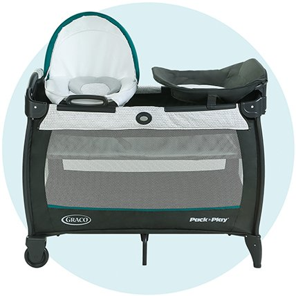 pack n play play yard with bassinet and changing station