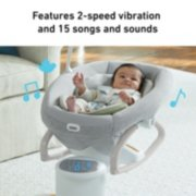 soothe my way baby swing with removable rocker image number 4